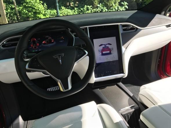 Rijdersstoel van Tesla model X