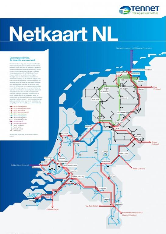 TenneT-netkaart