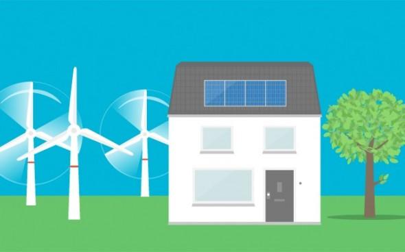 Duurzame stroom bij u thuis.