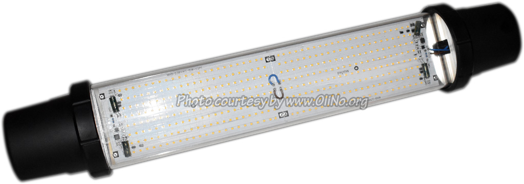 Maxibel - LED tube luminaire Cardol BLACK 230V AC 30W