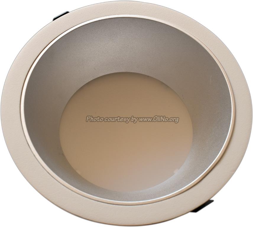 Clearlight - White down lighter dia 235mm pcb 4000K silver reflector 350 mA