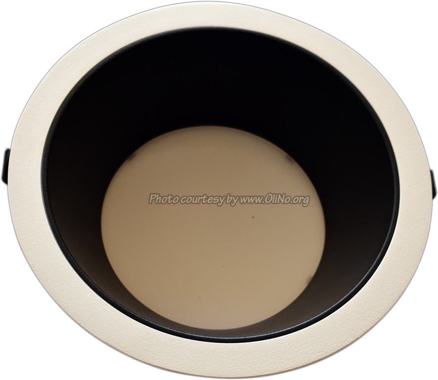 Clearlight - Witte downlight dia 235mm pcb 4000K black reflector 350 mA