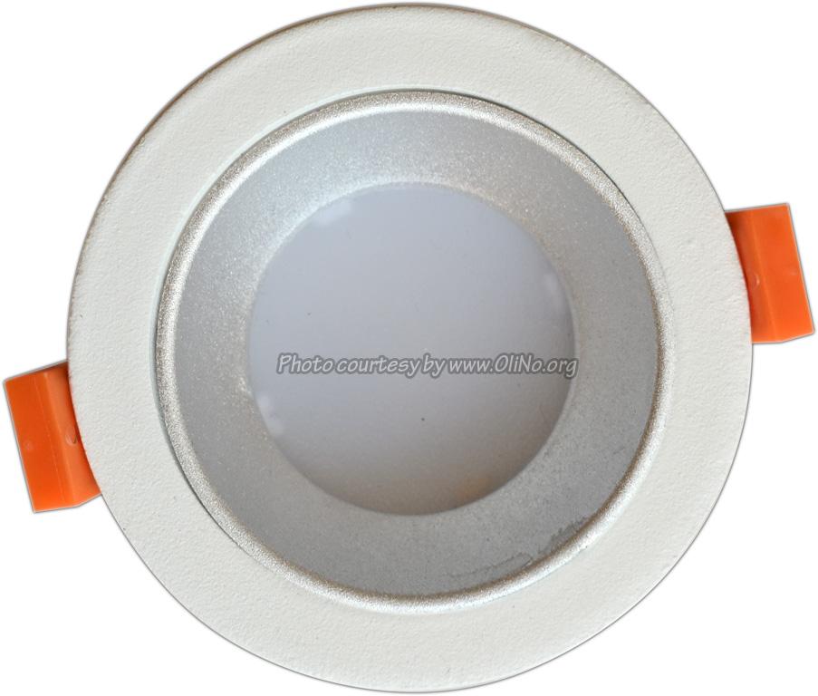 Clearlight - White downlight dia 90mm pcb 4000K silver reflector 350 mA