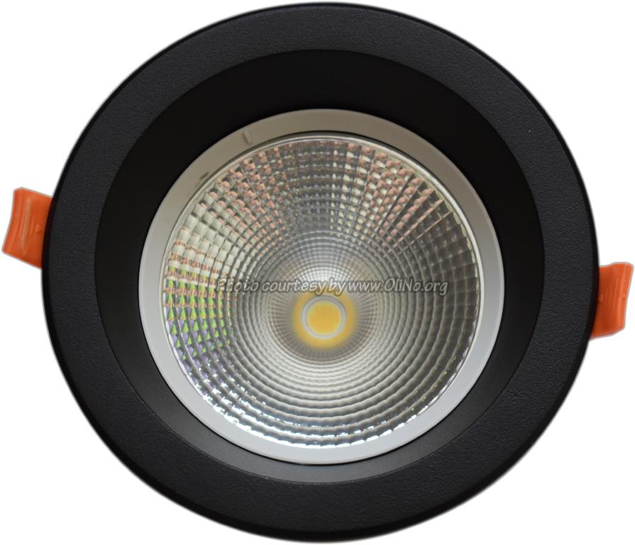 TLight - DLR145 LED 9W-3000K-5700K IP54 zwart sn st op 4000K