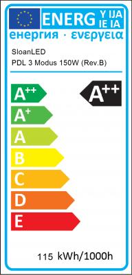 Energy Label SloanLED - PDL 3 Modus 150W (Rev.B)