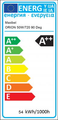 Energy Label Maxibel - ORION Ultra High Efficiency 50W/720 90 Deg